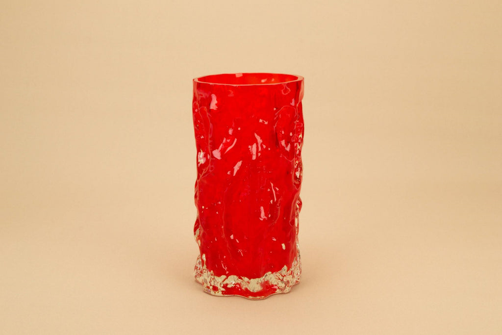 Modernist vase in red glass