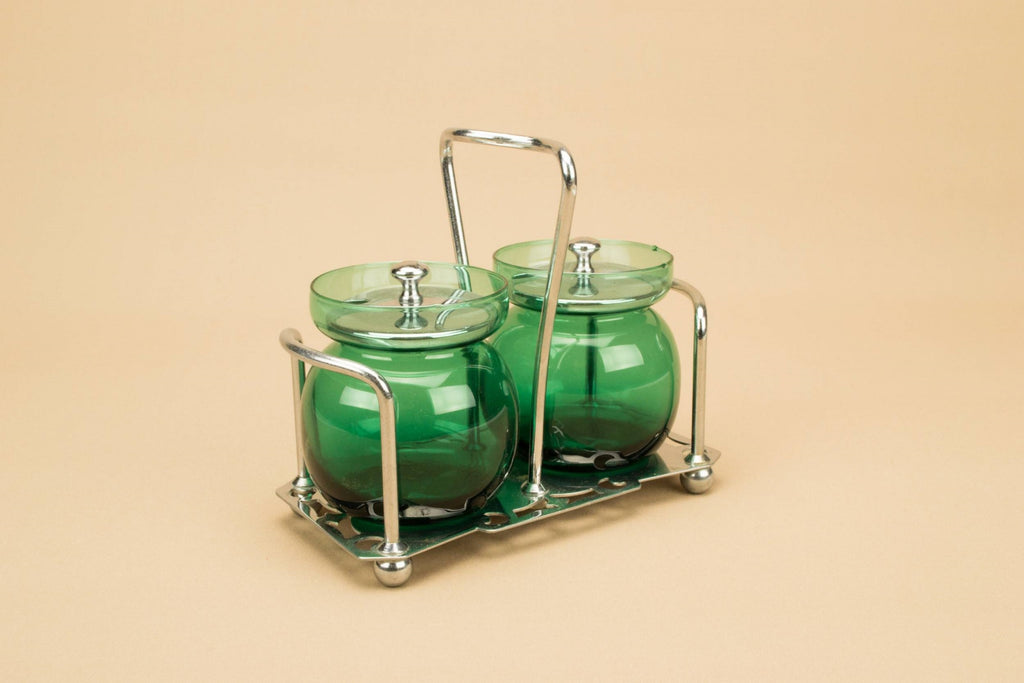 Green glass condiments