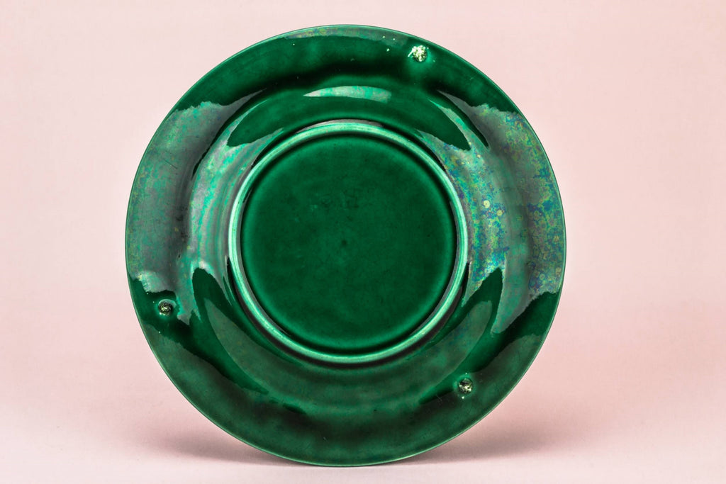 Green majolica medium plate