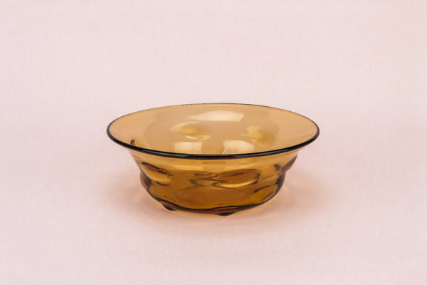Amber glass salad bowl