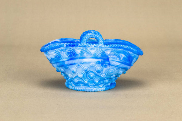 Marbled blue sugar bowl