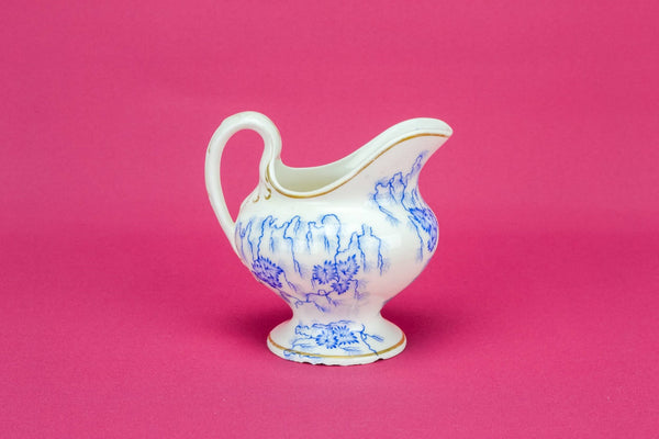 Blue and white milk jug
