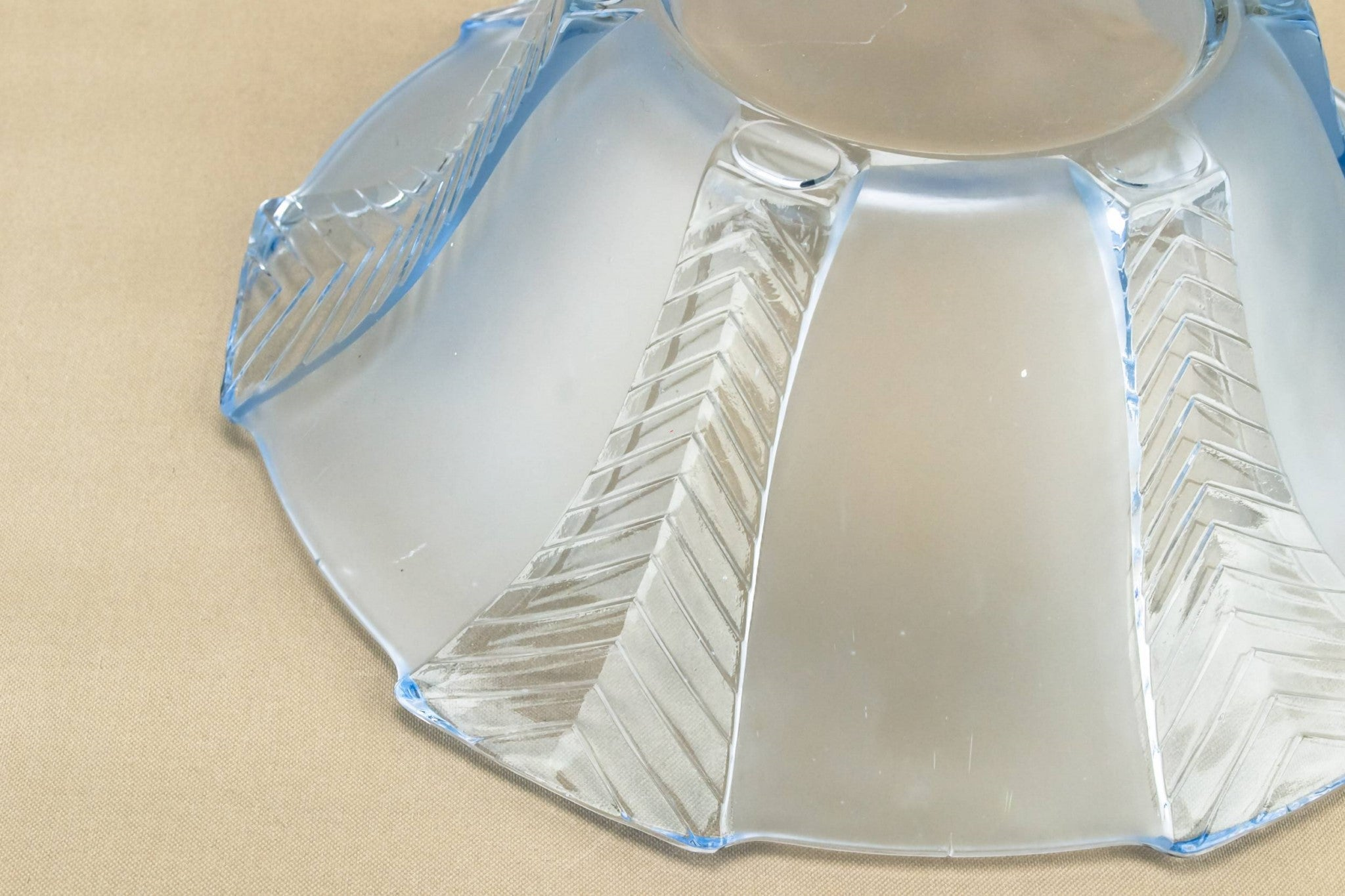 Art Deco blue glass bowl