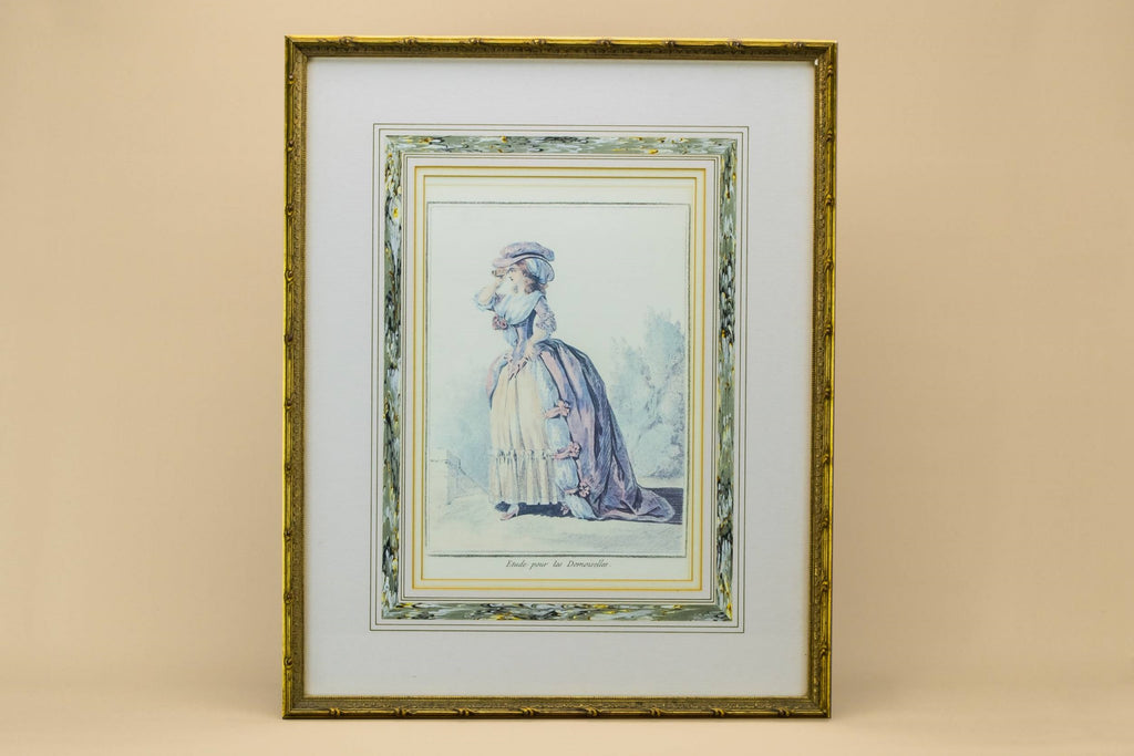 Study of a lady framed print