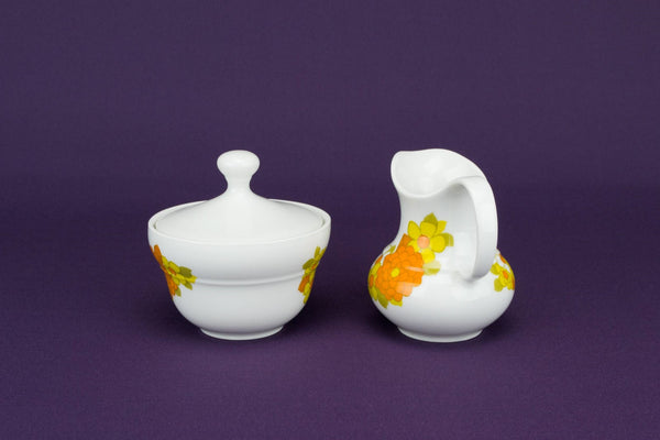 Orange milk and sugar set