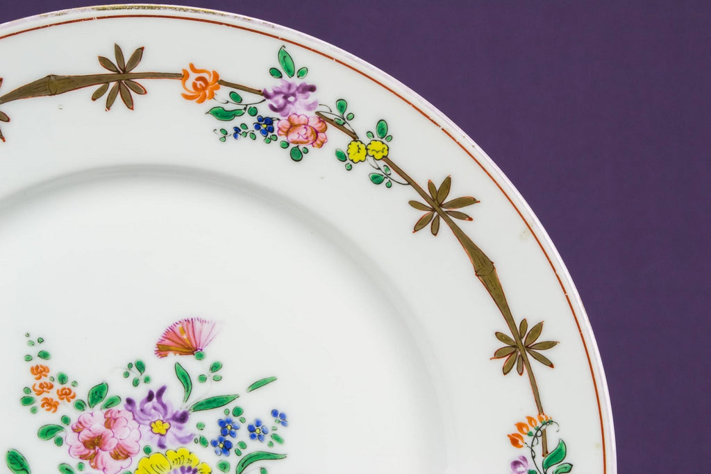 Floral cake serving plate