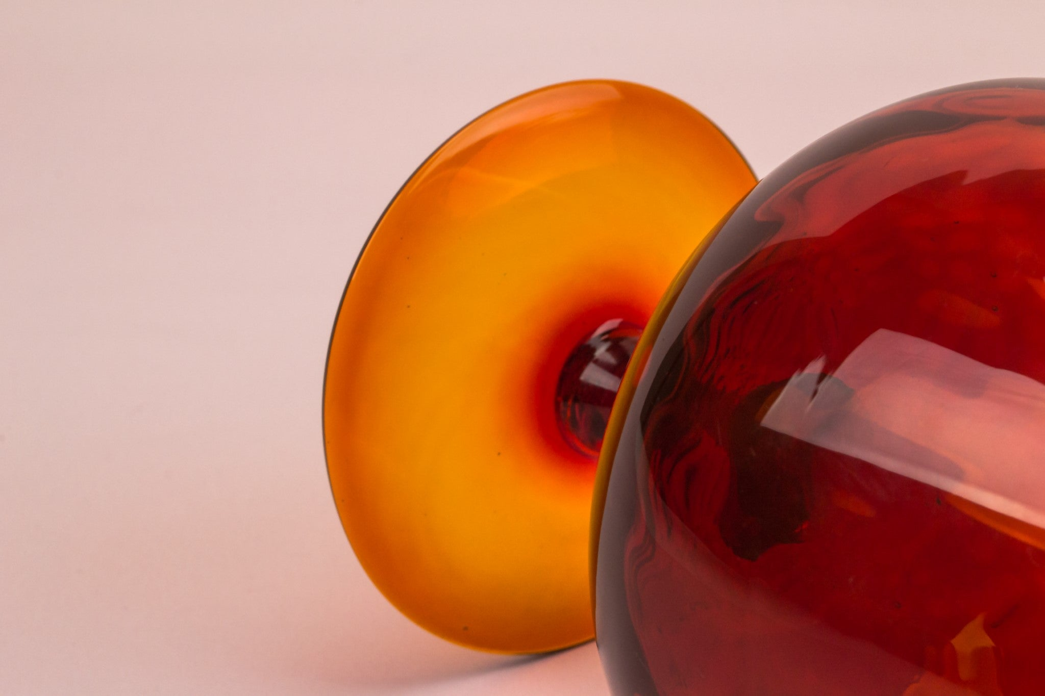 Orange glass vase