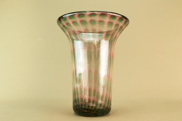 Stevens & Williams trumpet glass vase, circa 1910