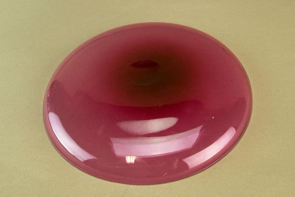 Cranberry red glass dish, early 1900s