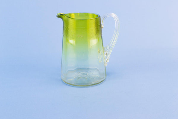 Green glass jug, late 19th century