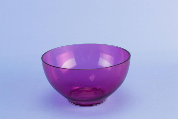 Cranberry red glass bowl, 1930s