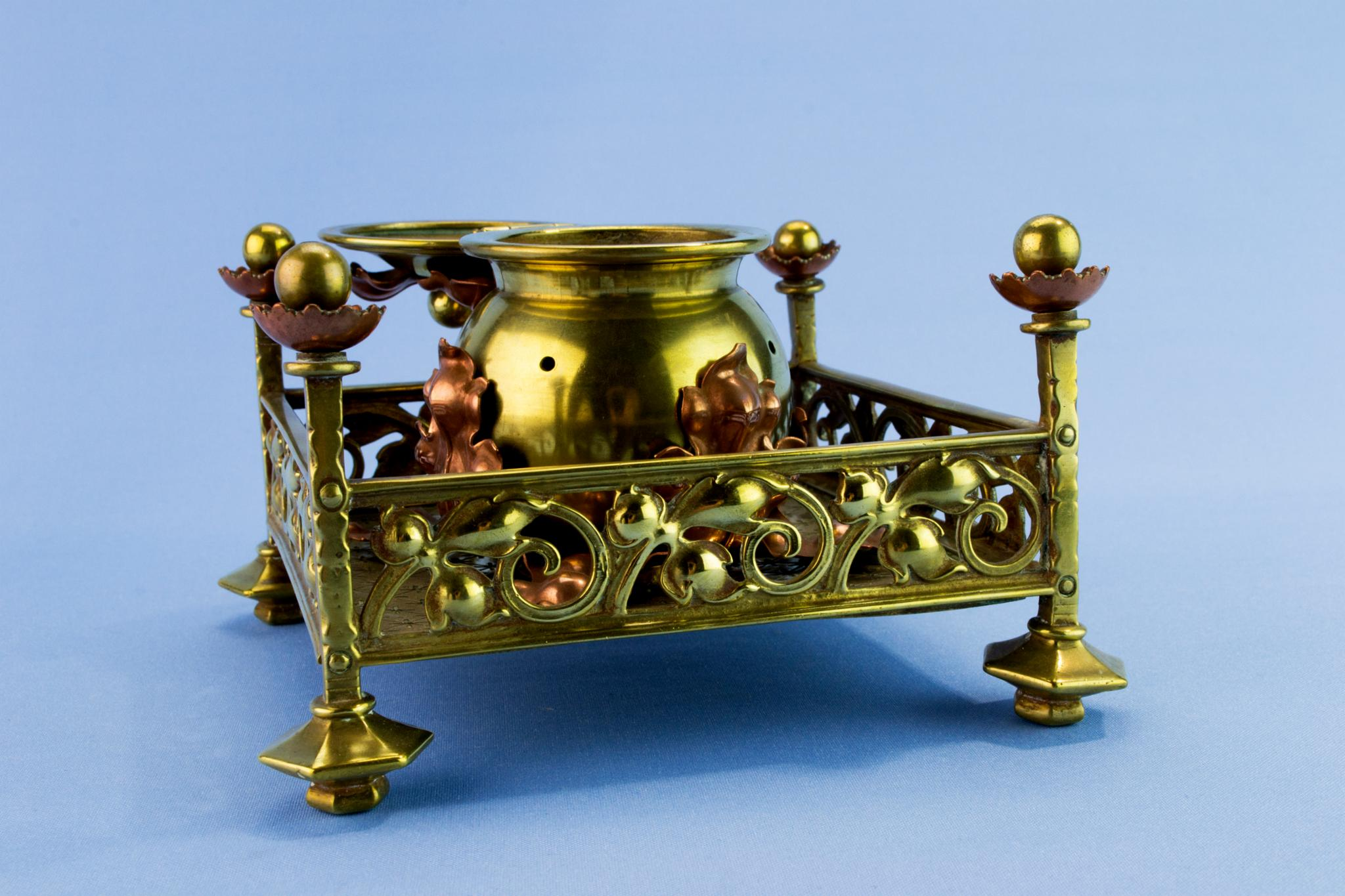 Gothic Revival inkwell, circa 1880