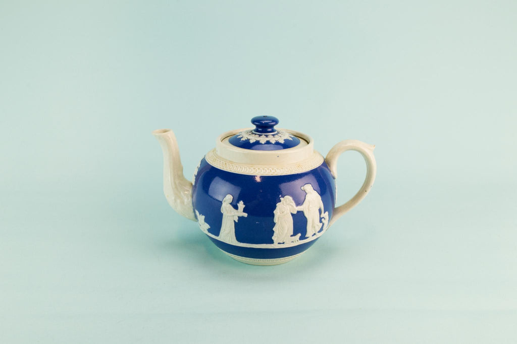 Blue and white medium teapot, circa 1900