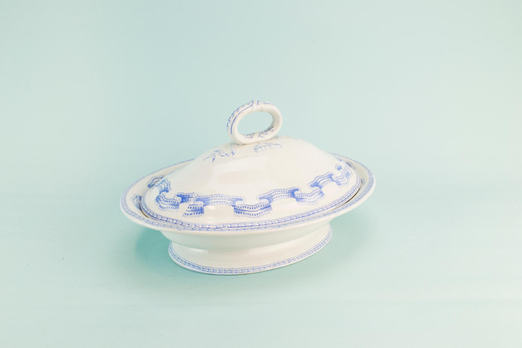 Blue and white tureen, 1880s