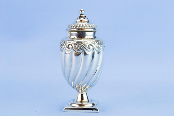 Sterling silver sugar caster, 1895