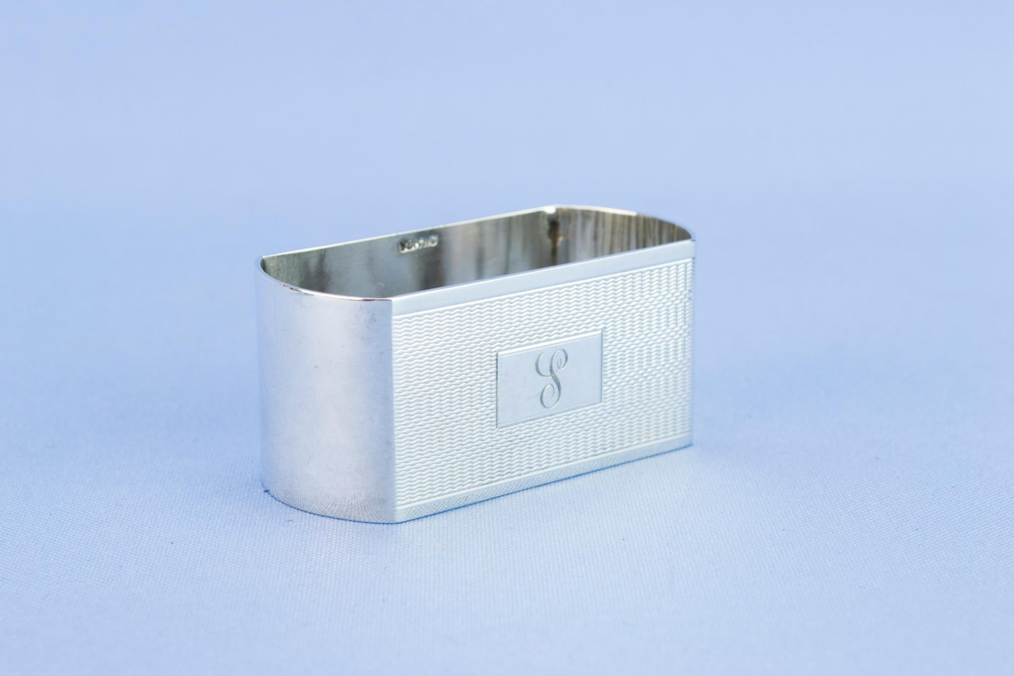 6 Sterling Silver napkin rings