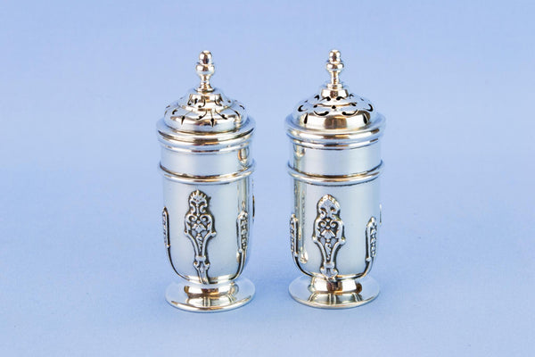 Art Nouveau sterling silver salt and pepper set, 1895
