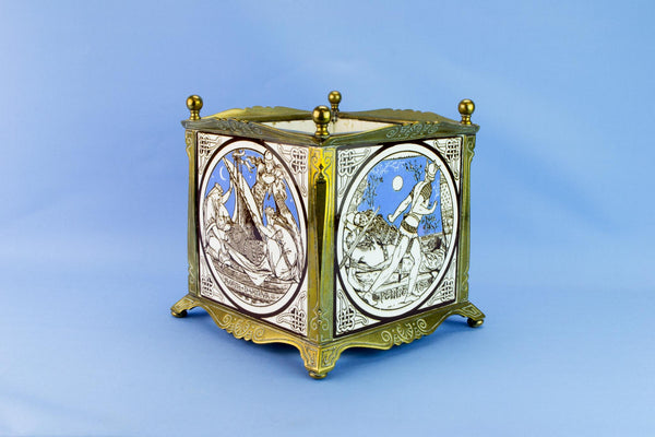 Arts & Crafts Minton planter, late 19th c