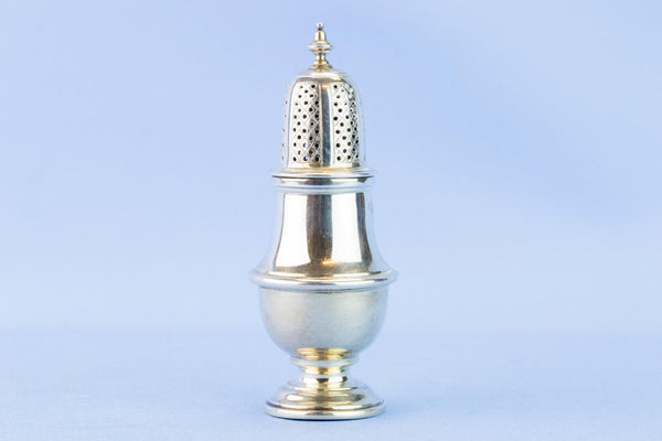 Sterling Silver pepper shaker, English 1928