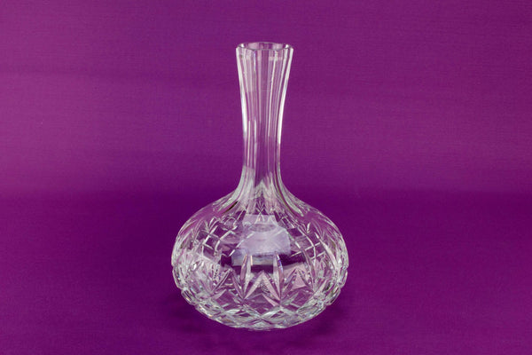 Cut glass table carafe, English late 20th C