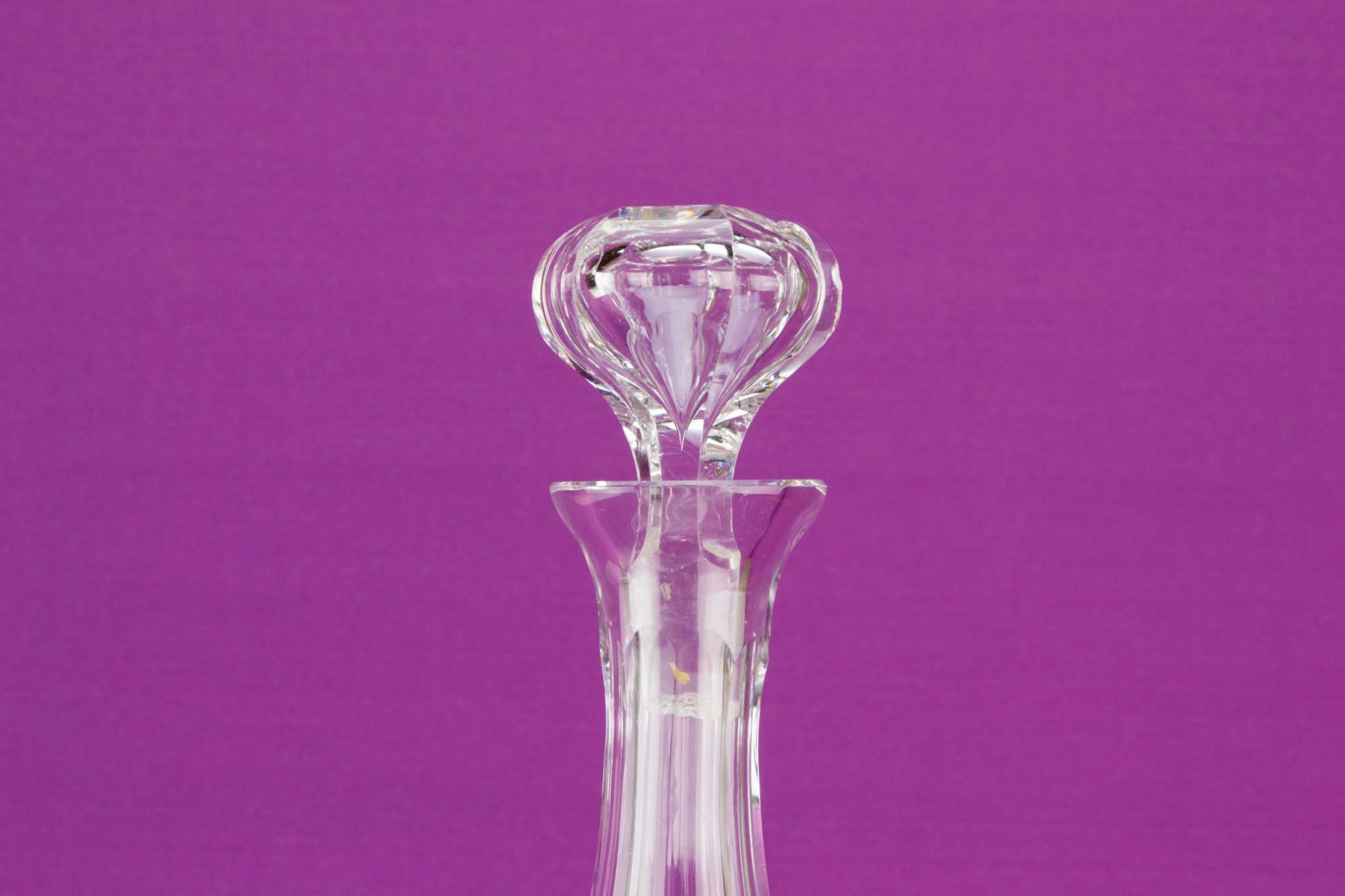 Cut glass tall decanter