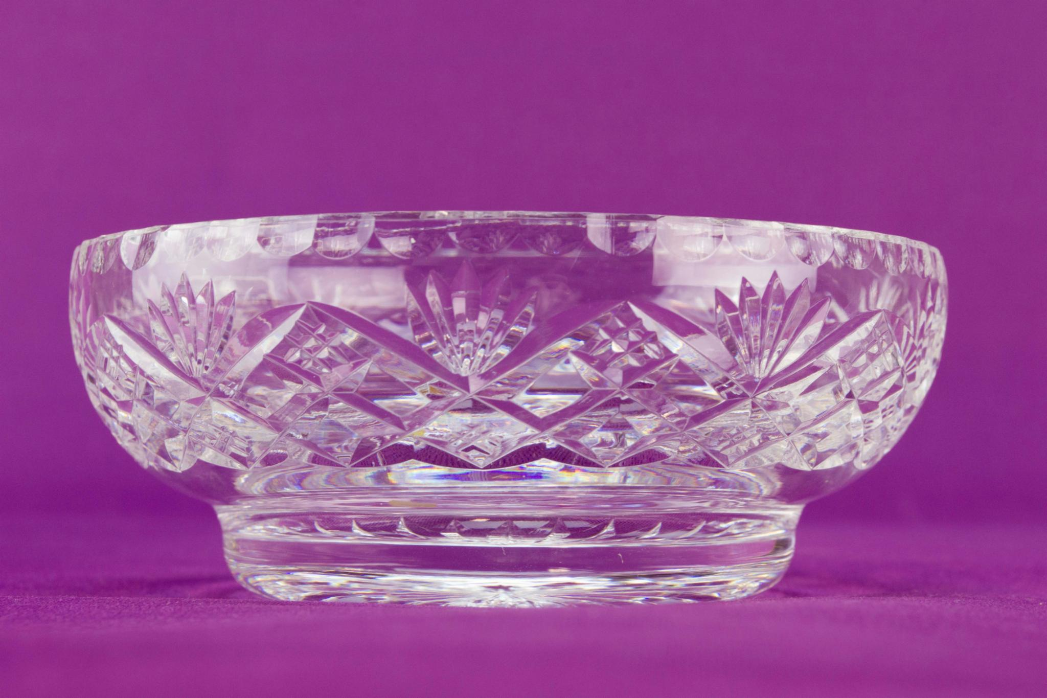 Cut glass small bowl by Tudor