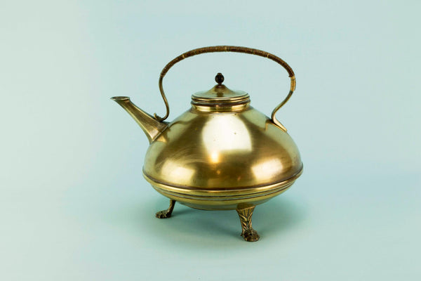 Christopher Dresser brass kettle, 19th C