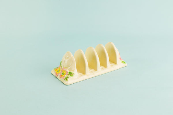 Ceramic toast rack, English 1950s