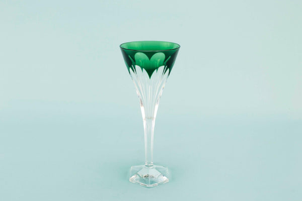 Val St Lambert wine glass, mid 20th c