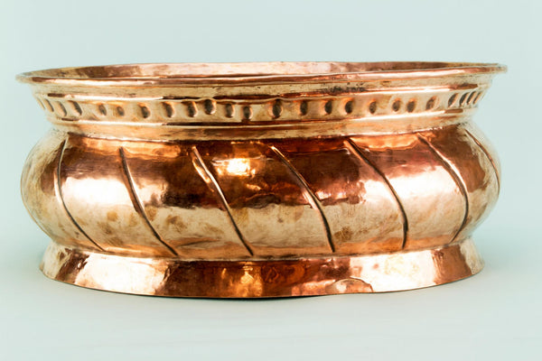 Large copper planter, Dutch 19th C