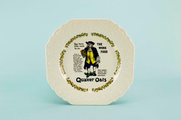 Novelty serving plate Quaker Oats