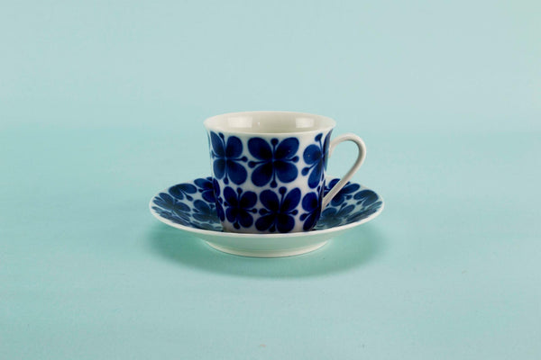 Blue and white coffee set for 6