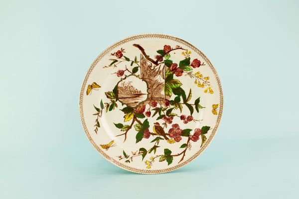 Aesthetic dinner plate, English 1880s