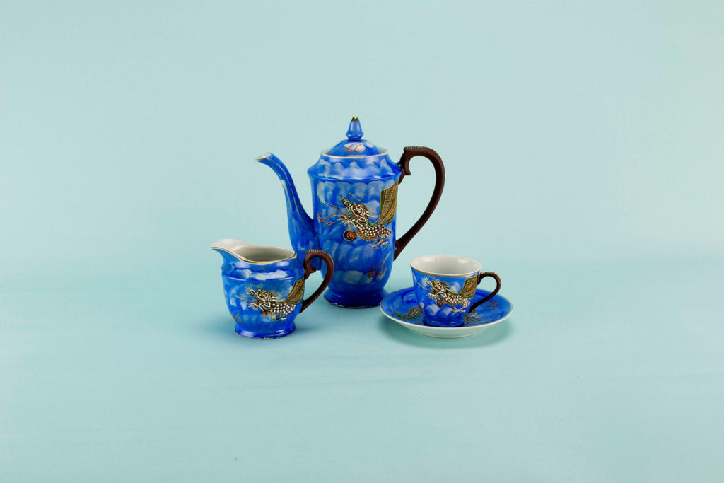 Dragon coffee set for 5, Japanese circa 1950