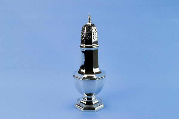 Walker & Hall silver sugar caster, English 1912