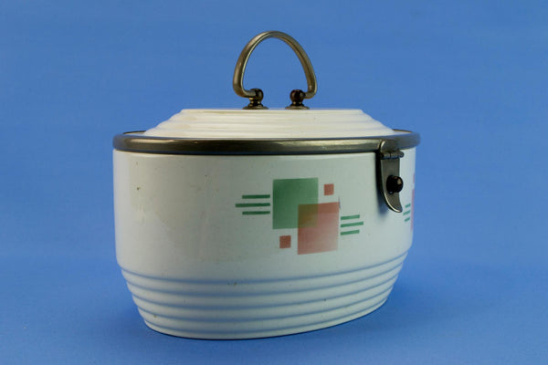 WMF ceramic caddy storage jar, German 1930s