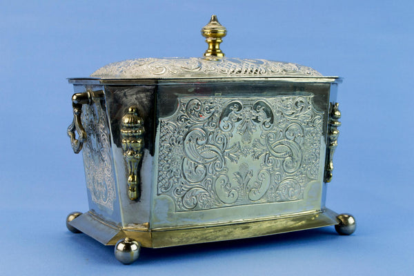Silver plated storage box