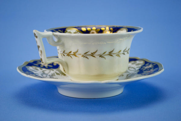 Rockingham cup and saucer, English 1830s