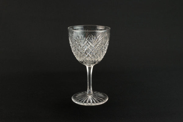 4 cut port glasses, English 1930s