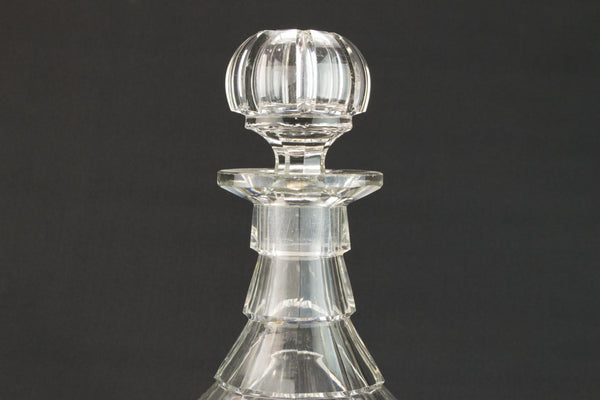Cut glass large decanter, English mid 19th century