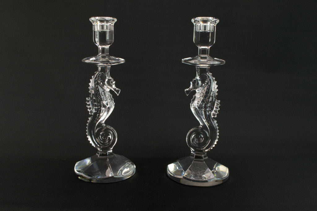 2 Waterford Seahorse Candlesticks