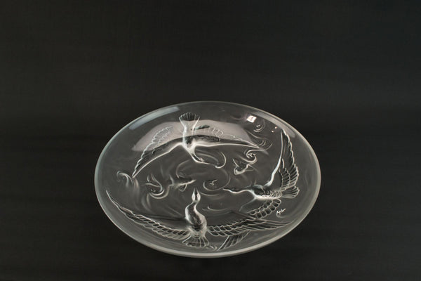 Large Verlys Glass Bowl, America 1940s