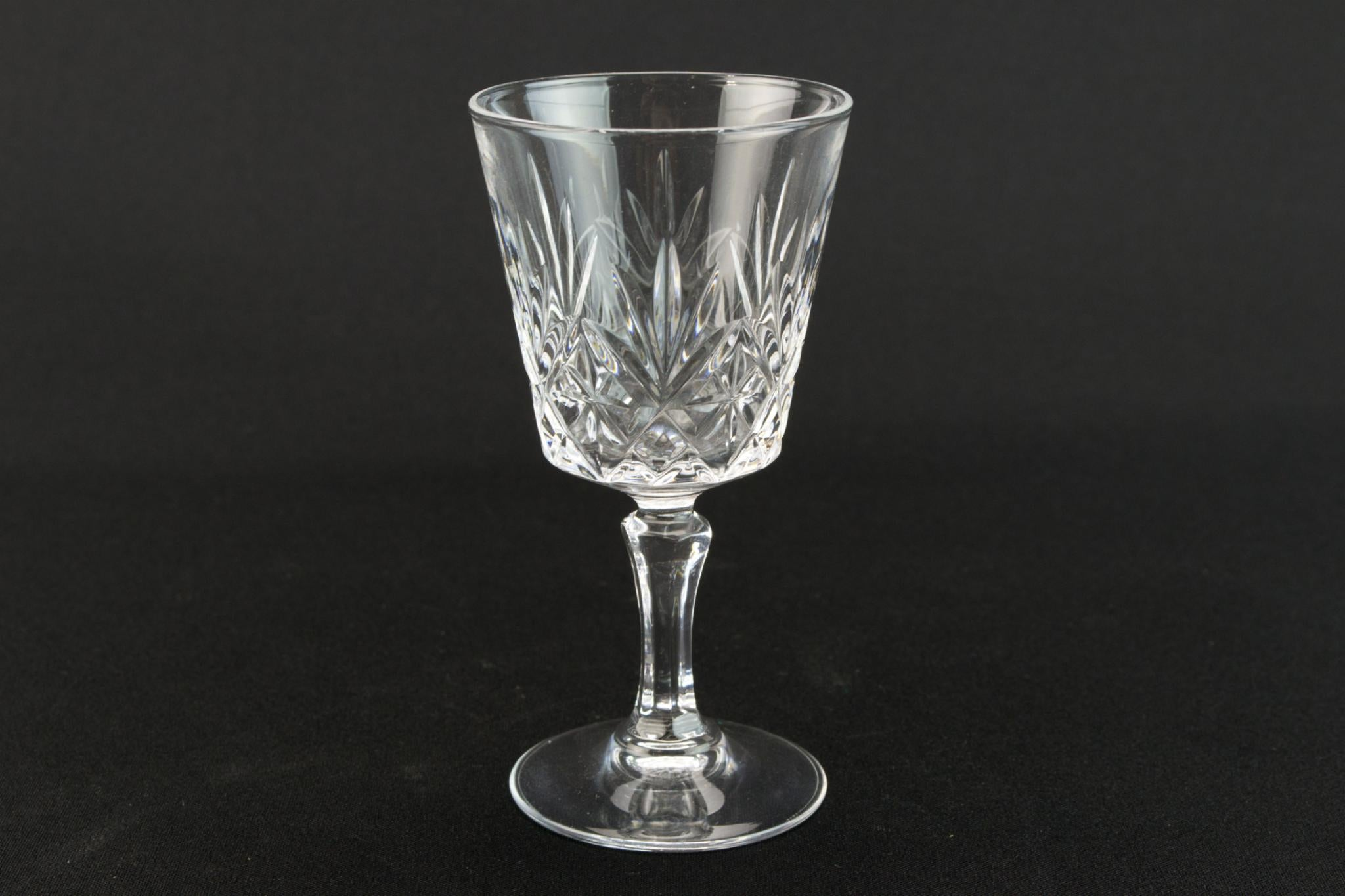 4 port or sherry stem glasses