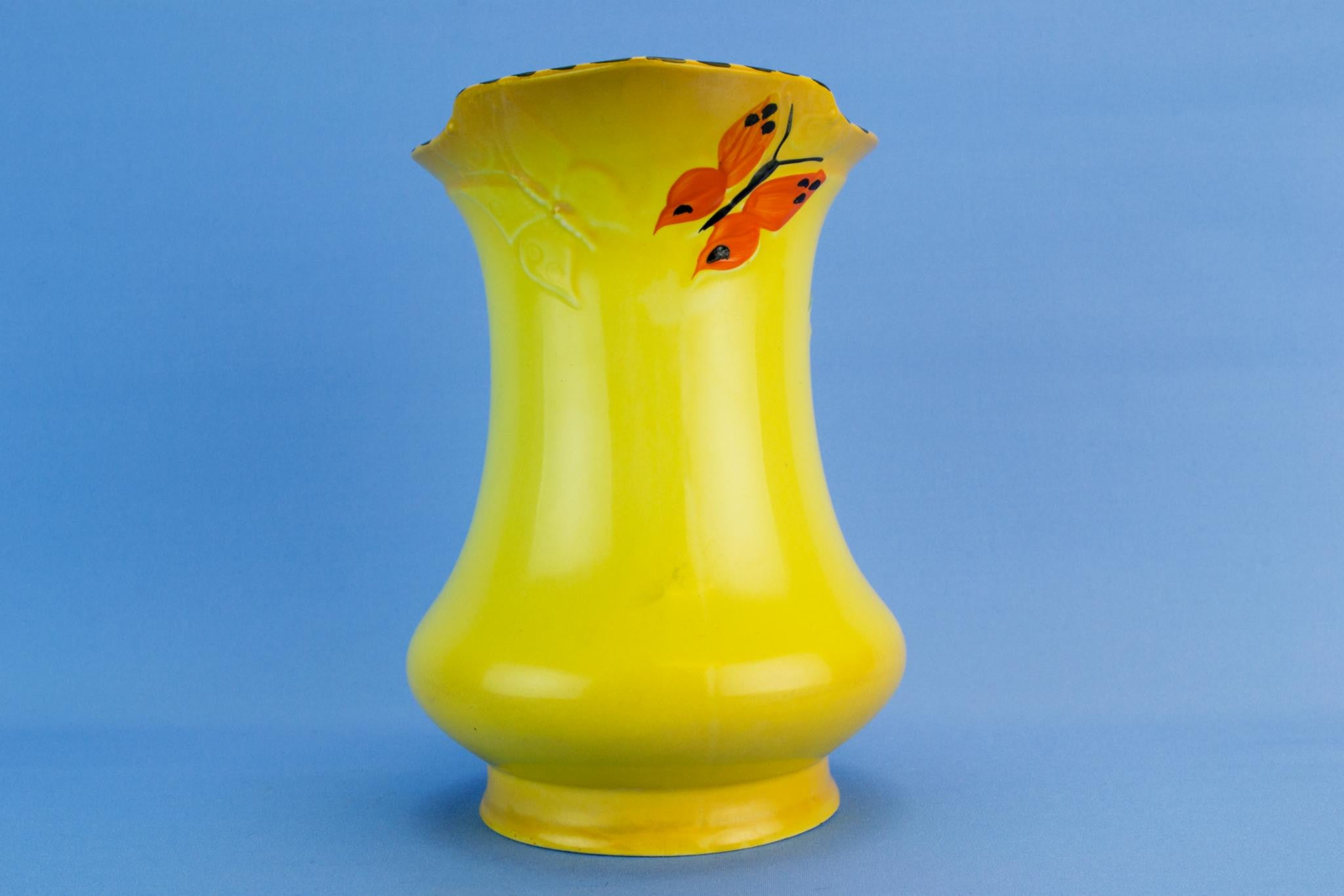 Bold red parrot jug, English 1930s