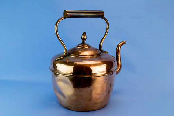 Rustic copper kettle