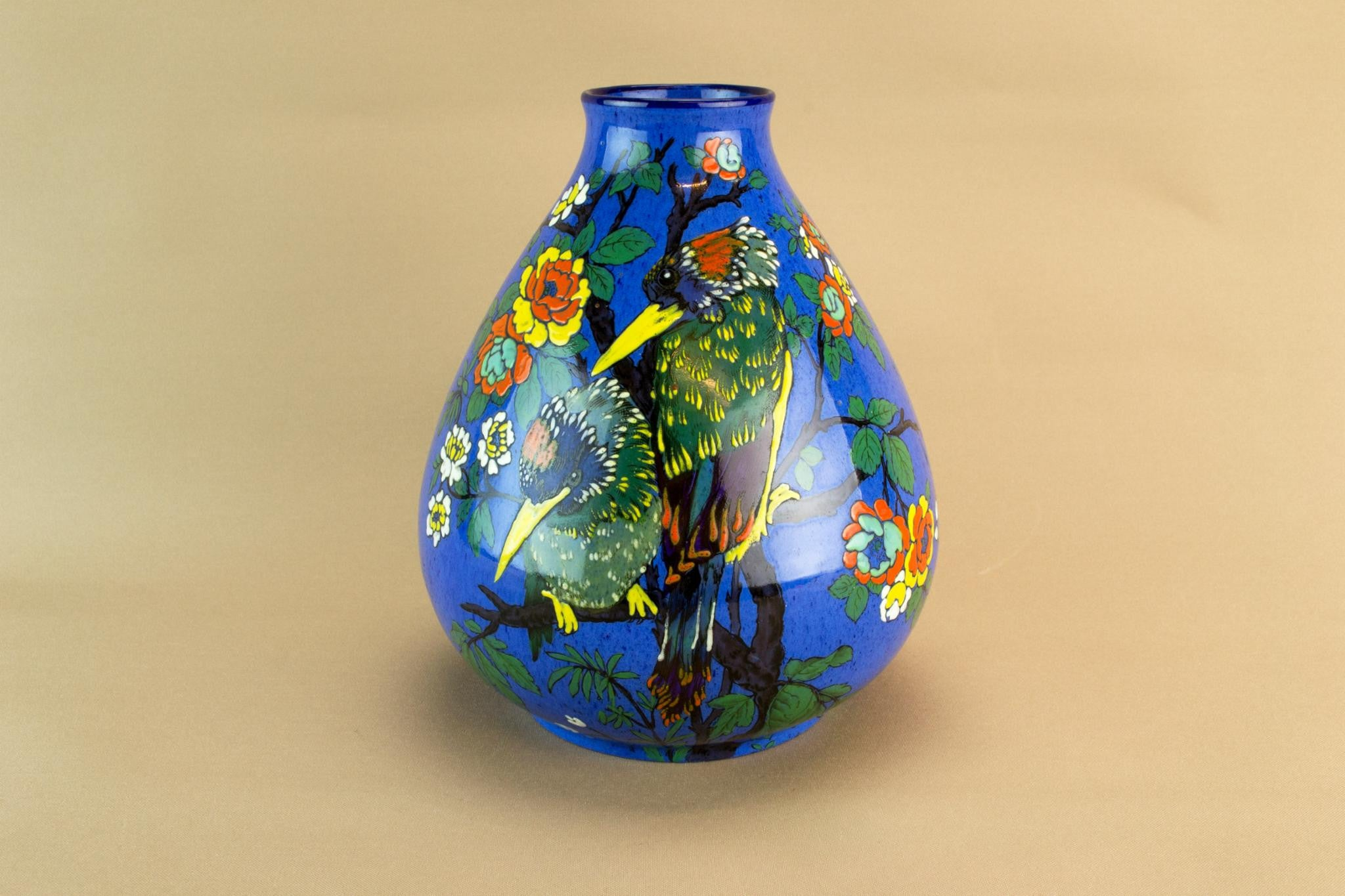 Colourful Art Deco vase, English 1930s