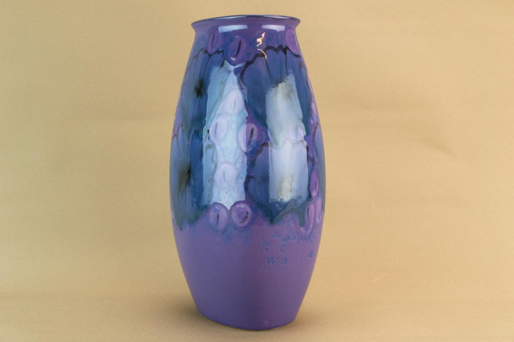 Purple Poole flower vase