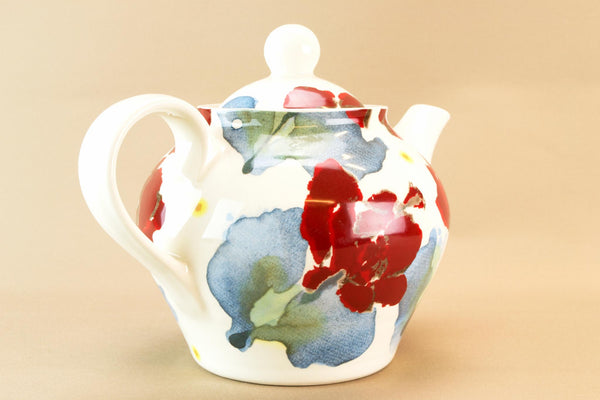 English Red poppy teapot