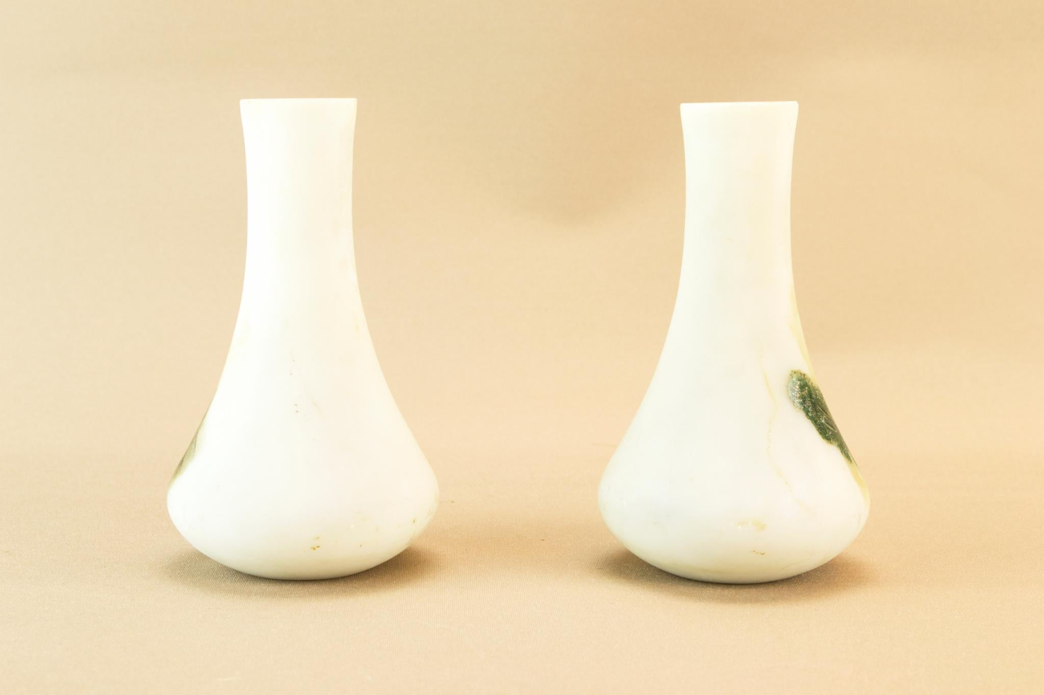 2 small glass vase, English early 1900s
