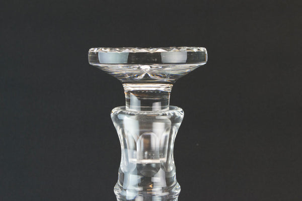 Cut glass English port and sherry decanter